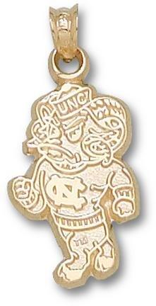 North Carolina Tar Heels New Full Bodied Ram Pendant - 14KT Gold Jewelry by Logo Art