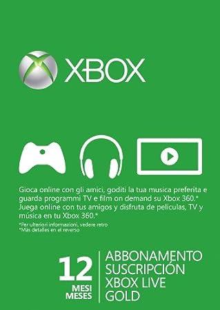 Microsoft - Suscripción Live Gold De 12 Meses (Xbox 360)