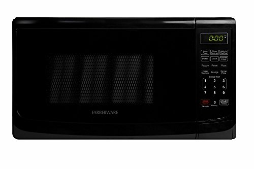 Farberware FMO07ABTBKA Classic 700W Microwave Oven, 0.7 cu. ft., Black (Black Microwave Small compare prices)