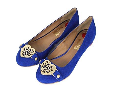 Moschino JB0705, Ballerine donna, Blu (Kobaltblau), 35