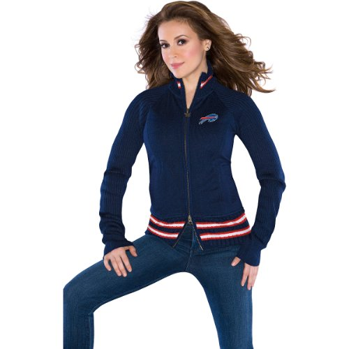 Touch by Alyssa Milano Buffalo Bills Women's Sweater Mix Jacket Large at Amazon.com