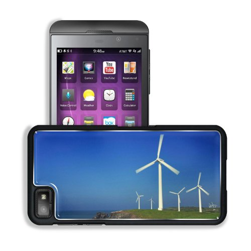 Ocean Windmills Generators Turbines Scenery Blackberry Z10 Snap Cover Premium Aluminium Design Back Plate Case Customized Made To Order Support Ready 5 3/16 Inch (131Mm) X 2 5/8 Inch (67Mm) X 4/8 Inch (13Mm) Msd Blackberry Z 10 Professional Metal Cases Bl