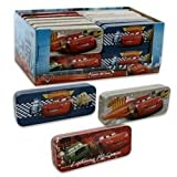 Disney Pixar Cars Lightning McQueen Blue Tin Pencil Case