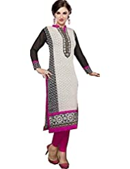 Dolphins Women's Georgette Sequined Long Sleeve Straight Kurti - B01127Z1OE