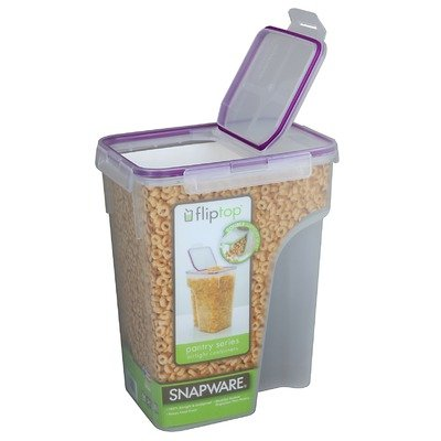 Snapware 4014 22.8-Cup Jumbo Flip Top Rectangle Cereal Keeper