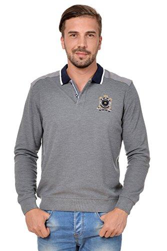 Sweat Maglietta T-Shirt Polo Felpa manica lunga per uomo di M.Conte Orsson grigio L