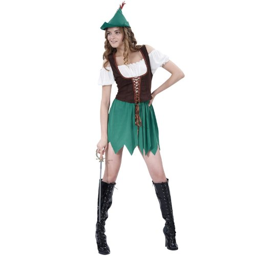 Robin Hood Lady (Budget) (Adult Costumes) - Female - One Size
