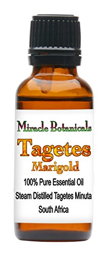 Miracle Botanicals Tagetes (Marigold) Essential Oil - 100% Pure Tagetes Minuta - Therapeutic Grade - 30ml