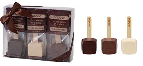 Hot Chocolate on a Stick - 3 Pack Variety Gift Box - Dark, Milk, Vanilla White Chocolate (Hot Chocolate Pops compare prices)