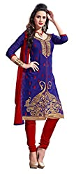 Khushali Presents Straight Dress Material(Purple,Red)