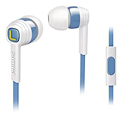 Philips SHE7055AR CitiScape In-Ear Headphones (White and Blue)