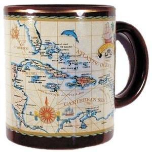 Caribbean Souvenir Antique Mug, Caribbean Souvenir Mug, Caribbean Mug