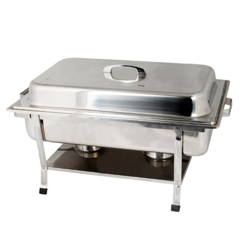 Thunder Group Stainless Steel Full Size Weld Chafer With Plastic Footed