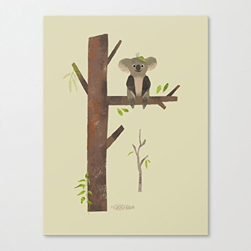 fiyejiek Cactus con Colorful Stampa Artistica Su Tela con cornice in legno, CP04, 50,8 x 61 cm