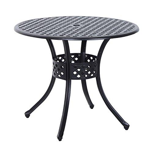 Cast Aluminum Table - Black