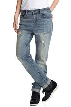 ESPRIT Jeans  Boyfriend Femme - Bleu - Blau (398 rupture) - 26W/30L