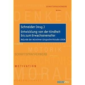 Entwicklung von der Kindheit bis zum Erwachsenenalter: Befunde der Münchner Längsschnittstudie LOG