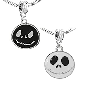 """""""Nightmare Before Christmas Halloween Skull Bell"""" Charm Bead Compatible For Most European Snake Chain Bracelets by SEXY SPARKLES"""
