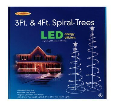Led Spiral Trees 3' And 4' Combo Pack