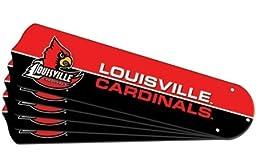 Ceiling Fan Designers 7990-LOU New NCAA LOUISVILLE CARDINALS 52 in. Ceiling Fan Blade Set