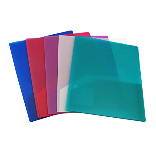 C-Line Two-Pocket Heavyweight Polypropylene Portfolio, Pack of 36 Portfolios, Assorted Colors (33900)