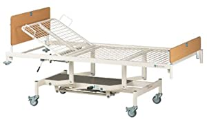 Durham Manual Hydraulic Adjustable Home Care Hospital Caring Nursing Bed