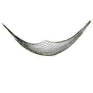 200cm x 80cm Army Green Nylon Net Sleeping Bed Meshy Hammock