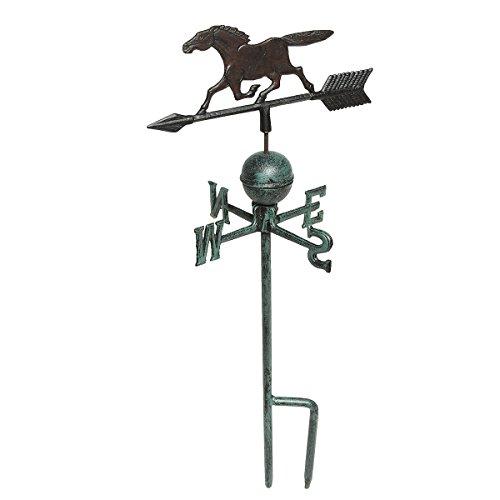 91009 Wetterhahn Pferd aus Gusseisen 74 cm