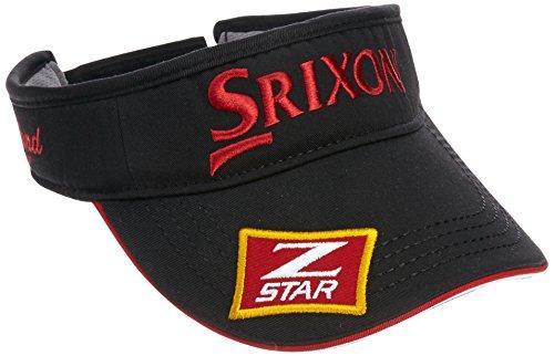 (スリクソン)SRIXON プロ着用バイザー SMH5331X  ブラック/レッド F