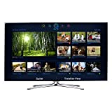 Samsung UN55F7100 55-Inch Ultra Slim 3D Smart LED HDTV, Smart Touch Remote, 4 Pairs of 3D Active Glasses