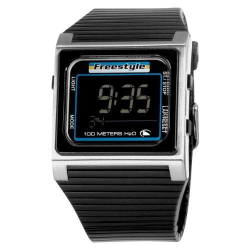 Freestyle Unisex FS84851 Speed Dial Digital Black and Steel Polyurethane Watch