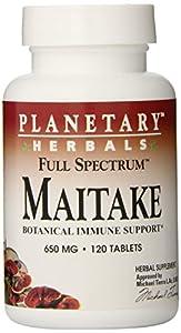 Planetary Formulas Full Spectrum Maitake Grifola Frondosa, 650 mg, Tablets , 120 tablets