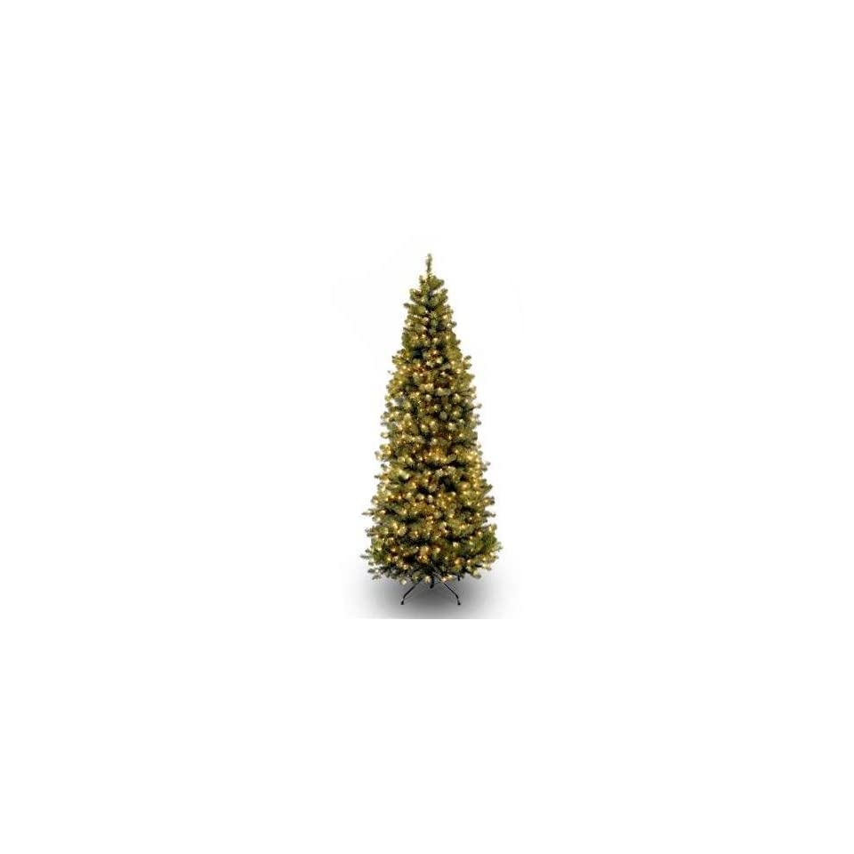 National Tree Company VEBSLSH1 75LO 7.5 Foot Verona Blue Special For Hinged Tree with 650 Clear Lights