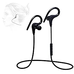 Bluetooth v4.1 Wireless Headphones Earbuds[Gym/Running/Exercise/Sports/Sweatproof] for Bluetooth Android IOS Smart Cell phones/Device, Balanced Audio, Buil-in Mic, aptX,Noise Cancelling Headphones