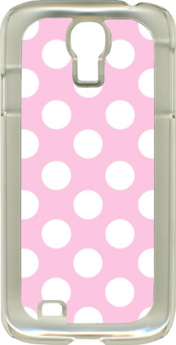 Different Color Polka Dots On Samsung Galaxy S4 Clear Hard Case Cover (Baby Pink And White)