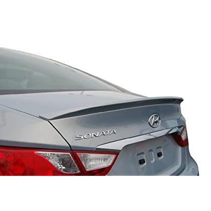 Rear Bumper Cover For 2011-2013 Hyundai Sonata w// 2 Exhaust holes Primed CAPA