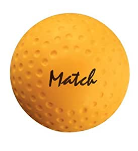 New Grays Dimpled Pattern Pvc Cover Durable Hockey Match Ball - Yellow 60pcs