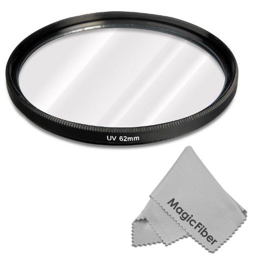 62Mm Uv Ultraviolet Lens Protection Filter For Tamron Af 70-300Mm F/4.0-5.6 Di Ld, Af 18-200Mm F/3.5-6.3 Xr Di Ii Ld Aspherical (If), Af 18-270Mm F/3.5-6.3 Vc Pzd Lenses + Magicfiber Microfiber Lens Cleaning Cloth