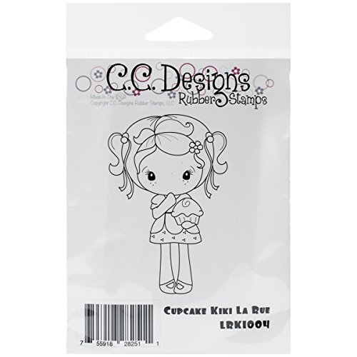 C.C. Designs La Rue Cling Stamp, 3.5 By 2.5-Inch, Cupcake Kiki
