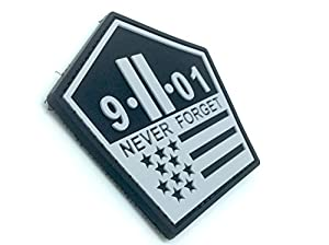 9-11 Never Forget Airsoft Velcro PVC Patch