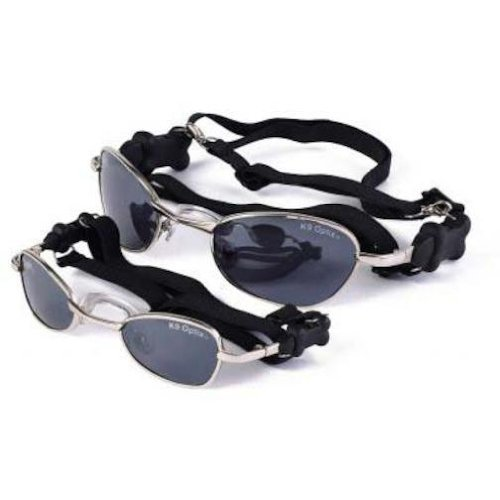 d611695d934  Detail shop Doggles Small K9 Optix Sunglasses for Dogs Silver Frame Smoke  Lens.