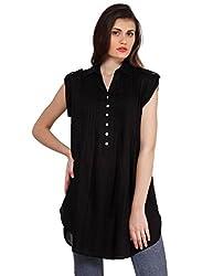 Oxolloxo Women black tunic