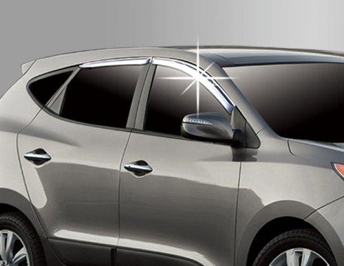 ix35 Zubehör für Hyundai ix35 Chrom Windabweiser Regenabweiser Tuning Safe Window Visor Chrome