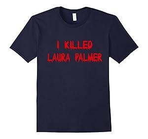 Men's I KILLED LAURA PALMER TSHIRT 2XL Navy