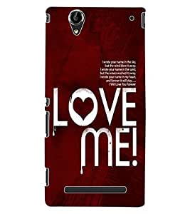 ColourCraft Love Quote Design Back Case Cover for SONY XPERIA T2 ULTRA