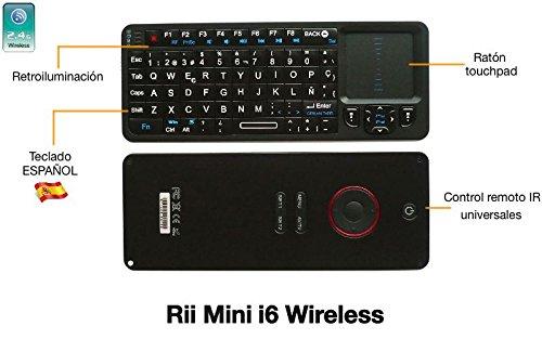 Lo que estabas buscando Mando multimedia inalámbico Rii Mini i6 con teclado