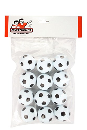 Set of 12 Soccer Ball Style Foosballs for Tornado, Dynamo or Shelti Tables - 1
