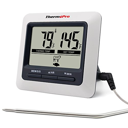ThermoPro TP04 Digital Cooking Meat Food Thermometer for Smoker Grill Oven BBQ Thermometer Instant Read (Cooking Probe Thermometer compare prices)