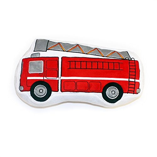 One Grace Place Teyo's Tires Decorative Pillow Fire Truck, Red, Grey, White, Black, Orange - 1