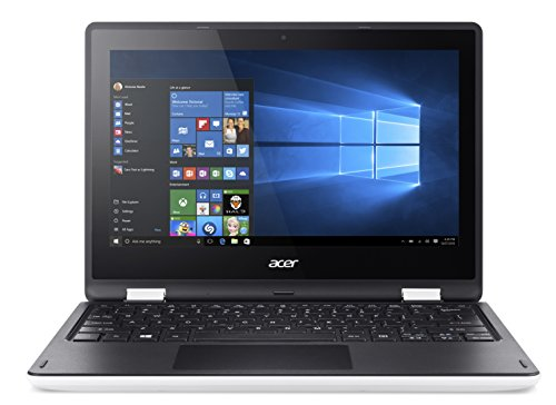 Acer 116 inches convertible notebook r3 131t intel celeron n3050 4 gb 32gb emmc touchscreen windows 10 white